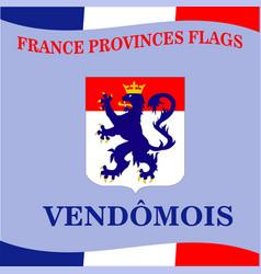 Flag of french province vendomois vector