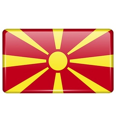 Flags Macedonia in the form of a magnet on vector