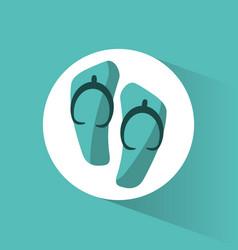 flip flop beach accesory vector image