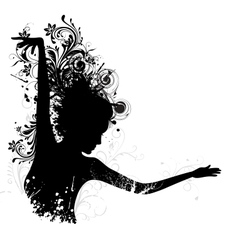 Floral Dancing Lady vector image