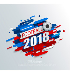 For a football cup 2018 vector