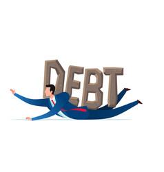 getting pressed by debt vector image