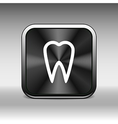 icon toothache sign line clinic symbol whitening vector image