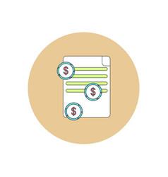 In flat design of get money vector