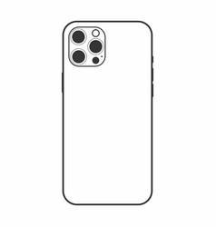 Iphone 12 dummy frame on back side vector