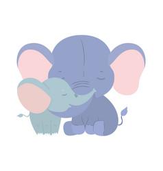 Isolated cute elephants cartoons design vector