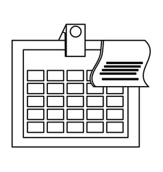 Isolated office calendar vector