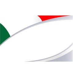 italian national flag banner frame corner vector image
