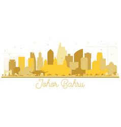Johor bahru malaysia city skyline golden vector