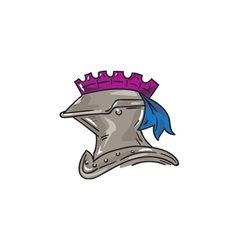 Knight Helmet Drawing vector image