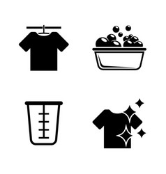 laundry washing wash simple related vector image