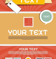 Leaflet Layout - Retro Poster Template vector image