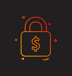 lock dollar money icon design vector image