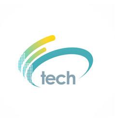 loop digitall technology logo vector image