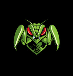 Mantis emblem logo vector