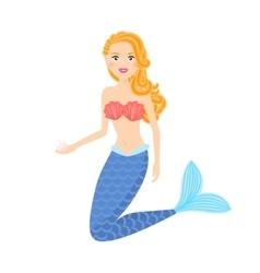Mermaid cute girl vector