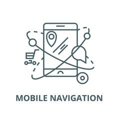 mobile navigationcommerce location line vector image