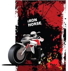 motorbike poster vector image
