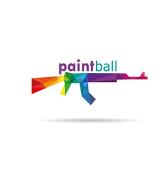 Paint ball icon vector