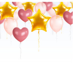 party balloons composition vector image