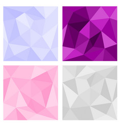 Pink grey and violet triangle background vector