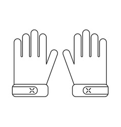 Protective gloves work clothes for construction vector