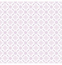 purple heart shape flowers seamless pattern vector image