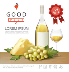 realistic premium alcohol template vector image