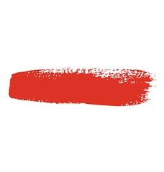 red brush stroke vector image