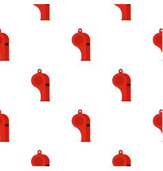 Red sport whistle pattern seamless vector