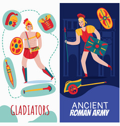 roman empire vertical banners vector image