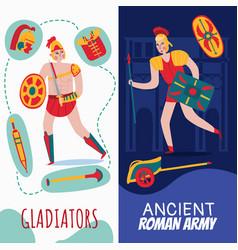Roman empire vertical banners vector