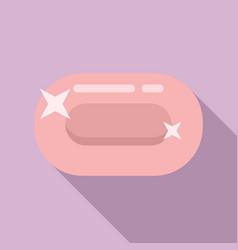 Sauna soap icon flat style vector