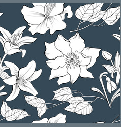 seamless pattern with hand drawn elements vector image