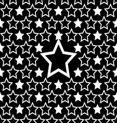 seamless white star pattern design background vector image