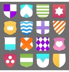 Set colorful shields vector