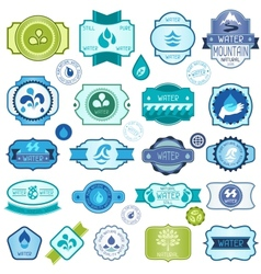 Set of water labels badges and stickers vector