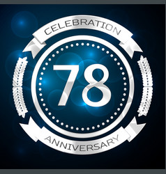seventy eight years anniversary celebration with vector image