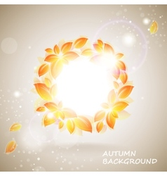 shiny autumn background vector image
