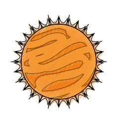 sun isolated solar system vector image