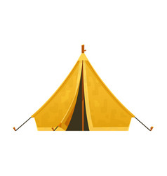 travel tent camping for nature vector image