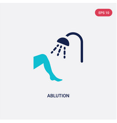 Two color ablution icon from hygiene concept vector