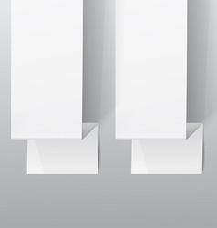 Two white sheets of paper on a grey background vector