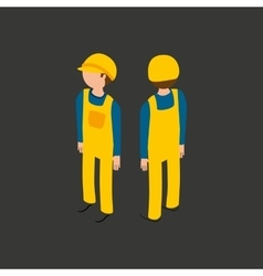 Under construction gear worker vector