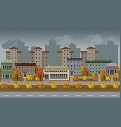 urban cartoon cityscape vector image