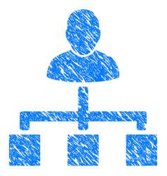 user hierarchy grunge icon vector image