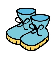 winter boots shoes icon vector image