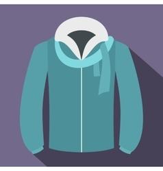 Winter jacket icon flat style vector