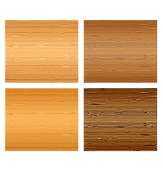 Wood textures set vector image