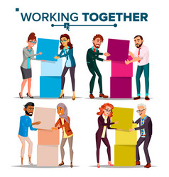 Working together concept communication vector